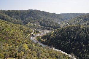 View of American River Canyon from Foresthill Bridge